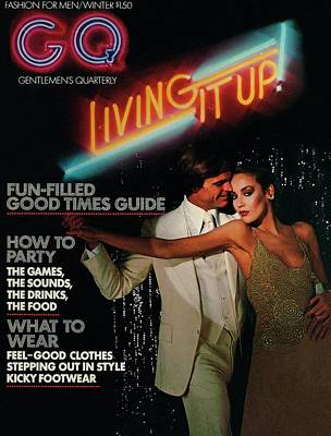 Black Jacket Photograph - Gq Cover Of A Couple In Disco Setting by Chris Von Wangenheim
