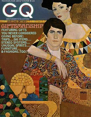 Fine Art Jewelry Photograph - Gq Cover Of An Illustration Of An Couple by Richard Amsel