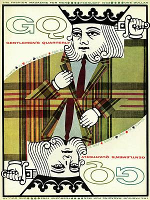 Playing Cards Photograph - Gq Cover Of An Illustration Of King Playing Card by Greenberg & Smith