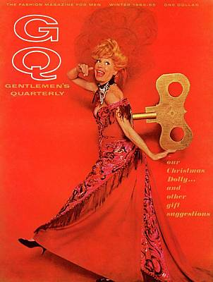 Gq Cover Of Carol Channing As A Windup 'hello Art Print by Chadwick Hall