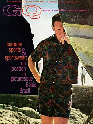 Button Down Shirt Photograph - Gq Cover Of Male Model In Bahia by Chadwick Hall