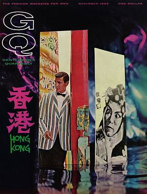 Gq Cover Of Model In Hong Kong Art Print by Richard Ballarian