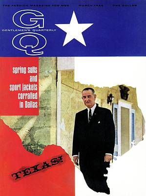 Lyndon Photograph - Gq Cover Of President Lyndon B. Johnson by Leonard Nones