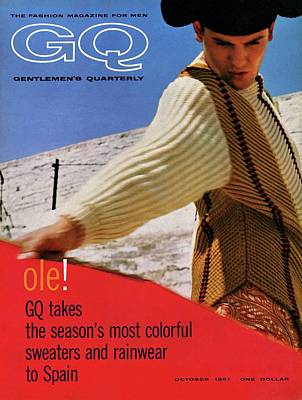 Gq Cover Of Spanish Matador Print by Chadwick Hall