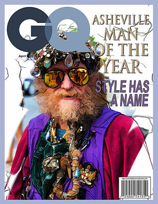 Digital Art - Gq Magazine Fake Cover by John Haldane