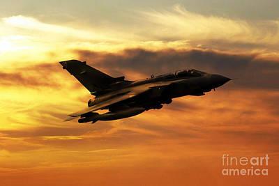Tornado Digital Art - Gr4 Sunset by J Biggadike