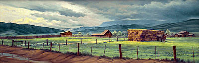 Horse Ranch Painting - Granby Ranch by Paul Krapf