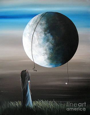 Large Moon Painting - Grace And Love By Shawna Erback by Shawna Erback