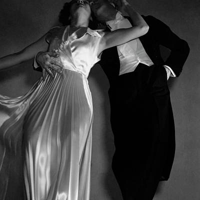 Worn Photograph - Grace And Paul Hartman by Edward Steichen