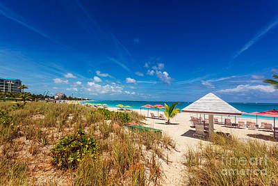 Photograph - Grace Bay Beach Dunes by Jo Ann Snover