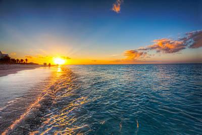 Grace Bay Beach Sunset Art Print by Jo Ann Snover