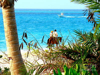 Art Print featuring the photograph Grace Bay Riding by Patti Whitten