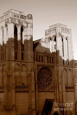 Grace Cathedral  Art Print by Irina Hays