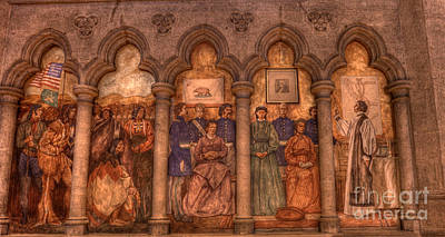 Grace Cathedral Mural Art Print by David Bearden