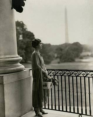 Grace Coolidge By The Washington Monument Art Print by Nickolas Muray