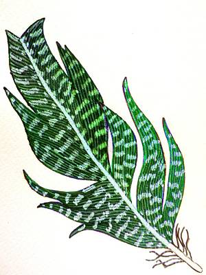 Painting - Grace Feather 2 by Priyanka Rastogi