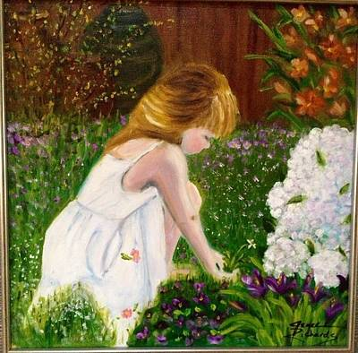 Painting - Grace In The Garden by Jenell Richards