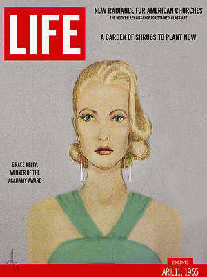 Grace Kelly Painting - Grace Kelly - Life Magazine 1955 by Michelle Rene Goodhew