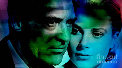 Grace Kelly Mixed Media - Grace Kelly And Cary Grant by Marvin Blaine