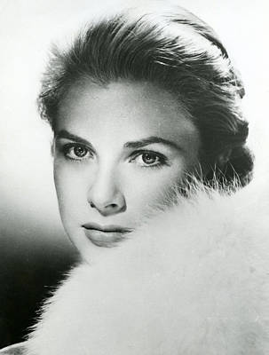 Princes Photograph - Grace Kelly Close Up by Retro Images Archive