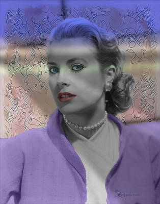 Grace Kelly Digital Art - Grace Kelly - Featured In Comfortable Art Group by EricaMaxine  Price