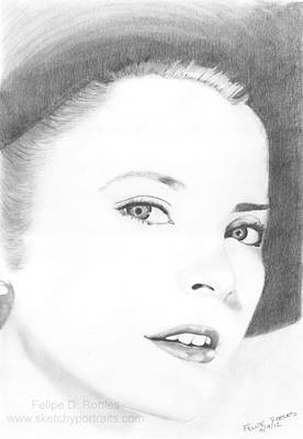 Grace Kelly Drawing - Grace Kelly by Felipe Robles
