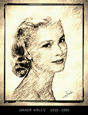 Grace Kelly Drawing - Grace Kelly by George Rossidis