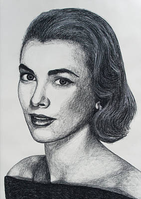 Grace Kelly Drawing - Grace Kelly by John Emery