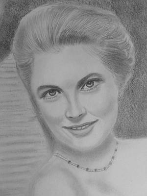 Grace Kelly Drawing - Grace Kelly by Paul Blackmore