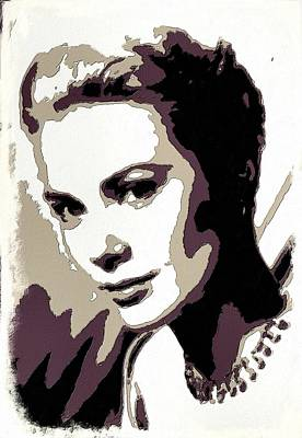 Grace Kelly Digital Art - Grace Kelly Poster Art by Florian Rodarte