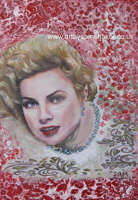 Grace Kelly Painting - Grace Kelly  by Sam Shaker