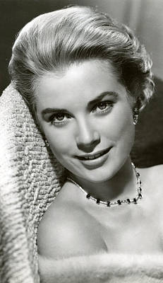 Grace Kelly Smiles Art Print
