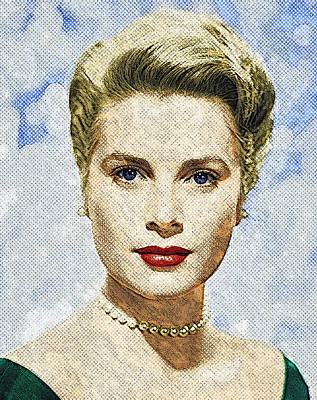 Grace Kelly Wall Art - Digital Art - Grace Kelly by Zapista