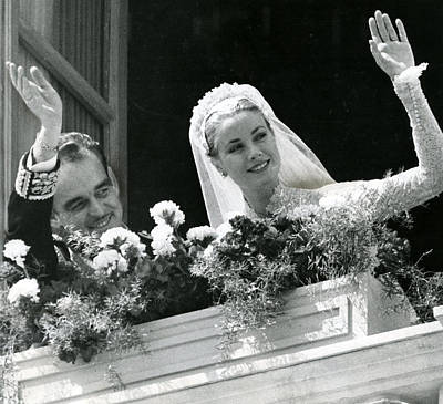 Princes Photograph - Grace Kelly Waves by Retro Images Archive