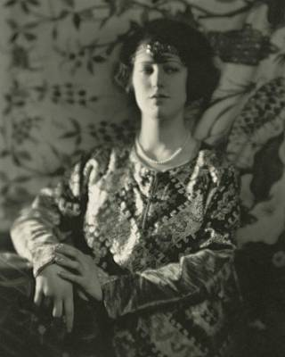 Moore Photograph - Grace Moore Wearing An Embroidered Jacket by Nickolas Muray