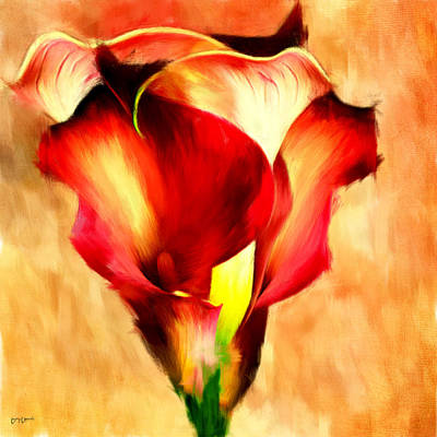 Lilies Royalty-Free and Rights-Managed Images - Grace Of Red by Lourry Legarde