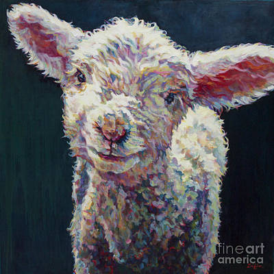 Lamb Painting - Grace by Patricia A Griffin
