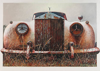 Grace - Rolls Royce Art Print by Blue Sky