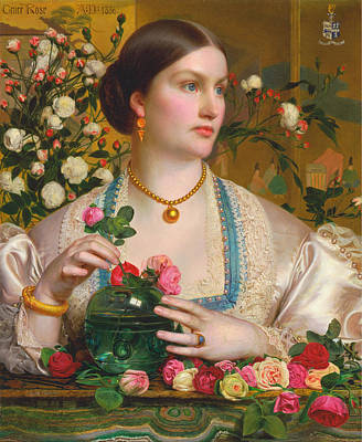 Grace Rose Art Print by Frederick Sandys