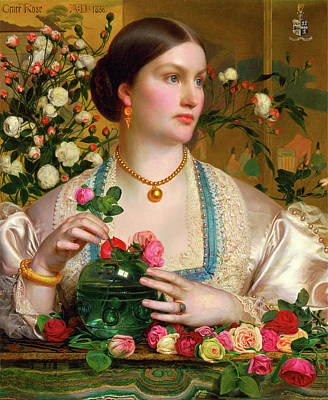 Grace Rose Inscribed, Upper Left Grace Rose Dated Art Print by Litz Collection