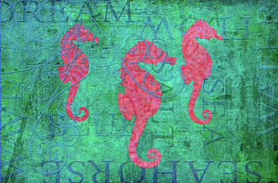 Grace Seahorse Art Print