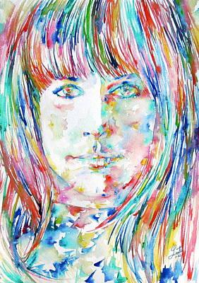 Grace Slick Art Print by Fabrizio Cassetta