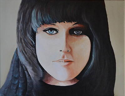 Lead Singer Painting - Grace Slick by Martin Schmidt