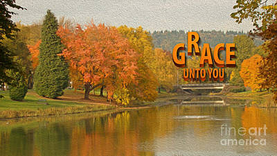 Autumn Landscape Mixed Media - Grace Unto You by Beverly Guilliams