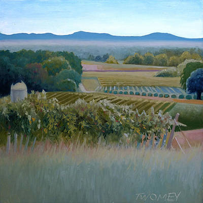 Silo Painting - Grace Vineyards No. 1 by Catherine Twomey