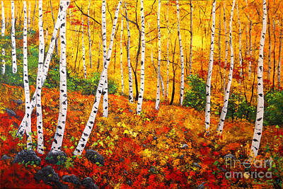 Graceful Birch Trees Art Print by Connie Tom