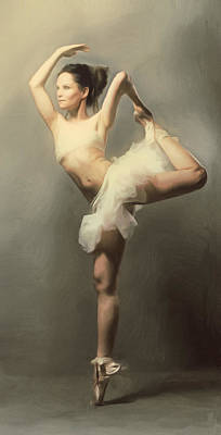 Graceful En Pointe Ballerina Art Print