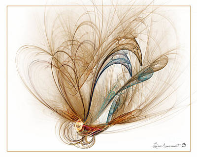 Digital Art - Graceful Flight by Leona Arsenault