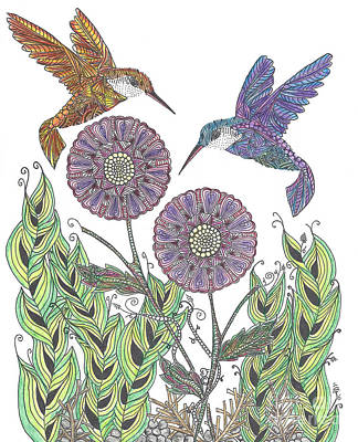Graceful Humming Birds 2 Art Print