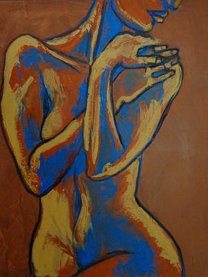 Frontal Nude Painting - Graceful Lady - Female Nude by Carmen Tyrrell